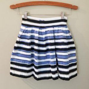 BTWEEN Girls Pleated Striped Skirt 6/6X NWT